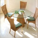 Cane Dining Table, For Home, Hotel