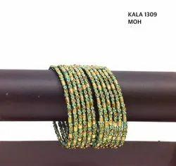 Nickel Golden Beautiful Bangle Sets KALA 1305, 1309, 4000, Packaging Type: Box
