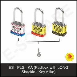 Lockout Padlock With Long Shackle - Key Alike