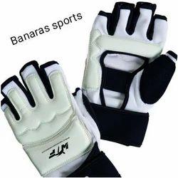 Black And White Taekwondo Gloves, Size: Small Medium Larg