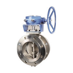 Gear Operated Flanged End Offset Butterfly Valve