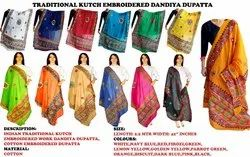 Kutch Embroidered Cotton -Gujarati Traditional Dupatta