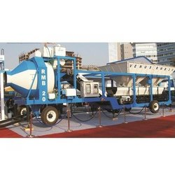 Mobile Batching Plant With Reversible Drum Mixer