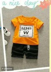Yellow Cotton KIDS CLOTHES, Age: 0-4 Year, Medium