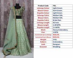 Semi-Stitched Wedding Wear Exclusive Designer Bridal Lehenga Choli