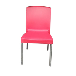 Pink Plastic Chair For Restaurant