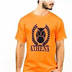 Orange Printed T Shirt
