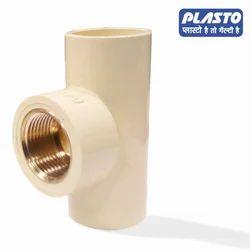 Plasto CPVC Brass Reducer Tee