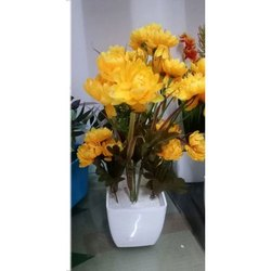 Polyethylene Yellow Artificial Marry Gold Flowers