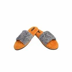 Non Woven Designer Open Toe Carpet Slippers, Size: 6-10