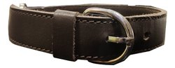 Brown Genuine Leather Dog Collar with Leash