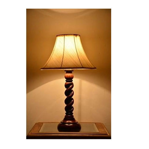 Wooden Solid Spiral Designer Table Lamp With 12