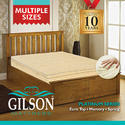Gilson White And Brown King Size Memory Spring Foam Mattress, Size: 72x48 Inch