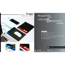 Mouse Pad with USB Hub & Stationery Holder
