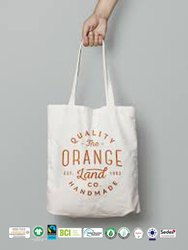 Bio Cotton Canvas Beach Bag