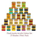 Flash Jumbo Acrylic Color Set 25 Shades