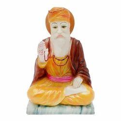 Marble Look Guru Nanak Multicolor Statue/ Idol Gift Item
