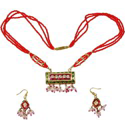 Meenakari Lacquer Necklace Set 181