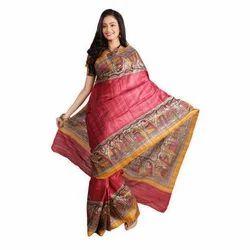 Party Wear Pure Silk Saree, 5.5 M (separate Blouse Piece)