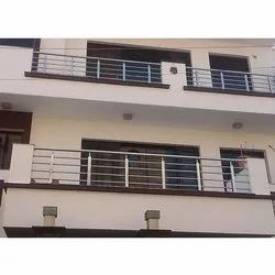Silver SS Front Balcony Railing, For Home, Material Grade: SS304