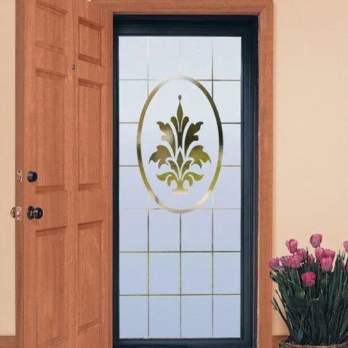 Door Toughend Etching Glass 12mm
