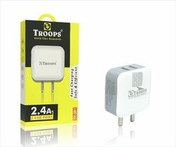 Troops White TP-2.4 amp 2 USB with Cable