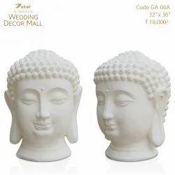 GA06A Fiberglass Buddha Face Sculpture