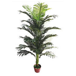 Green Plastic Artificial 1 Meter Decorative Areca Plant For Decoration