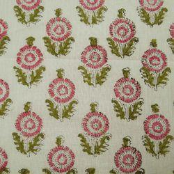 Traditional Hand Block Small Buta Print Fabric
