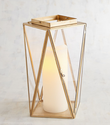 Metal And Glass Avon Golden Modern Medium Lantern