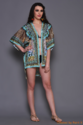 Digital Printed Silk Short Kaftan