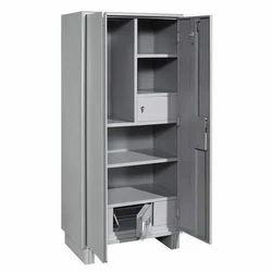Omster 8 Feet Mild Steel Office Almirah, Warranty: 2 Year