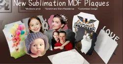 White And Black Sublimation MDF Desktop Plaques - Blank
