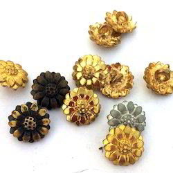 floral metal buttons