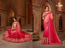 Indian Women Orange Color Georgette Saree