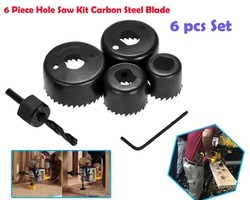6 Pieces Hole Saw Kit, Deodap Hole Saw Set Drill Bit Cutting Cutter Round Circular 32mm/38mm/44mm/54