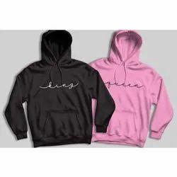Casual Printed Fleece Hoodie, Size: S-XXL