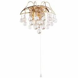 Brass Down Jaquar CONSTELLA Crystal Chandelier Wall Lamp, For Decoration, 2 X 5w