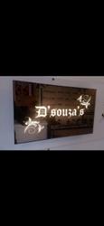 LED Glass Name Plates