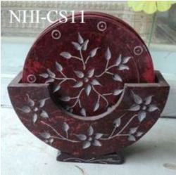 Handcrafted Soapstone Coaster Set