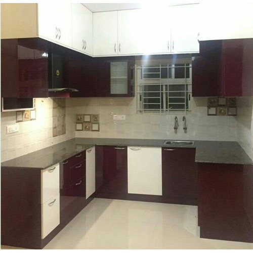 Kutchina Modular Kitchen Price At Rs 75000 Number: Modern U Shaped Modular Kitchen, Rs 75000 /unit, Yazi