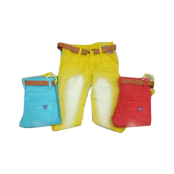 Party Wear Stretchable Kids Cotton Faded Jeans, 20-30, Handwash