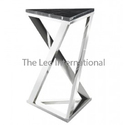 Black Granite And Stainless Steel Stool