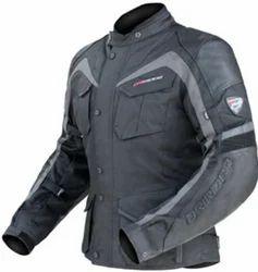 Grey Full Sleeve Men Rider Jacket PCRJ0003M, No