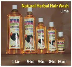 Natural Herbal Hair Wash Shampoo ( Lime )
