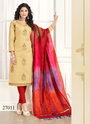 Marvelous Cotton Embroidered Churidar Salwar Kameez