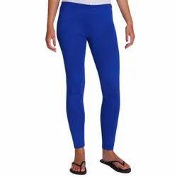 Cotton Blue Ladies Plain Churidar Leggings