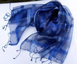 Tussar Silk Yarn Dyed Scarf