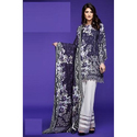 Blue And White Printed Pakistani Lawn Suit
