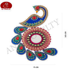 Standard Peacock Acrylic Rangoli, For Decoration, Packaging Type: Packet